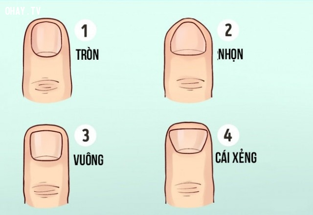 Tính cách của từng người thể hiện qua dáng ngón tay