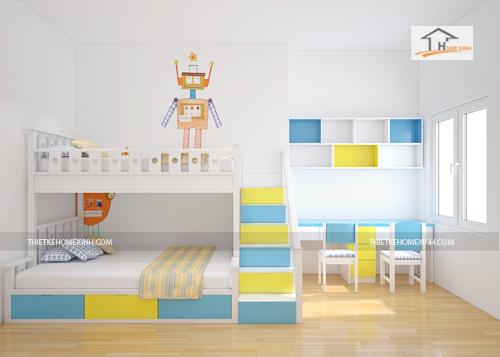 Thiết kế nội thất trẻ em hợp phong thủy giúp con học giỏi và vâng lời