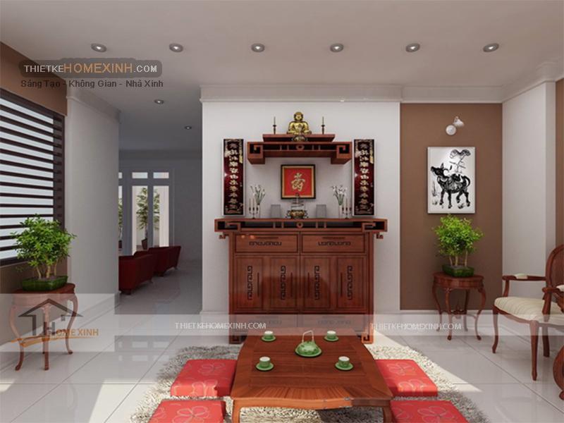 Tư vấn cách đặt, chọn kích thước bàn thờ cho căn hộ chung cư