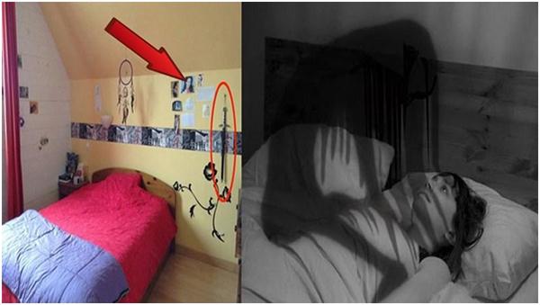 Không trang trí các vật dụng mang tính bạo lực trong phòng ngủ