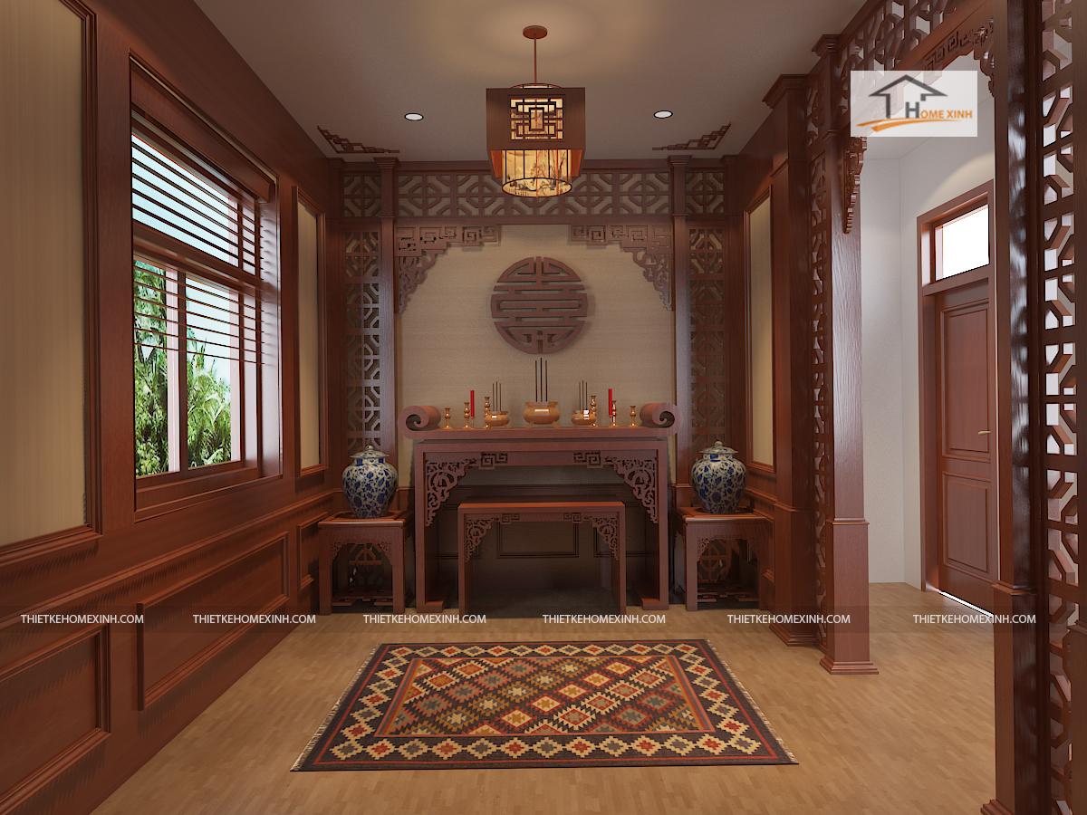 thiết kế phòng thờ - thiết kế home xinh