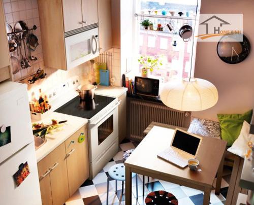 Đặt bếp ở nơi có đường đi gây bất lợi về đường tài lộc cho gia chủ.