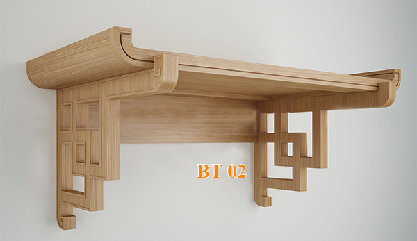 Kích thước bàn thờ treo tường hợp phong thủy - HomeXinh
