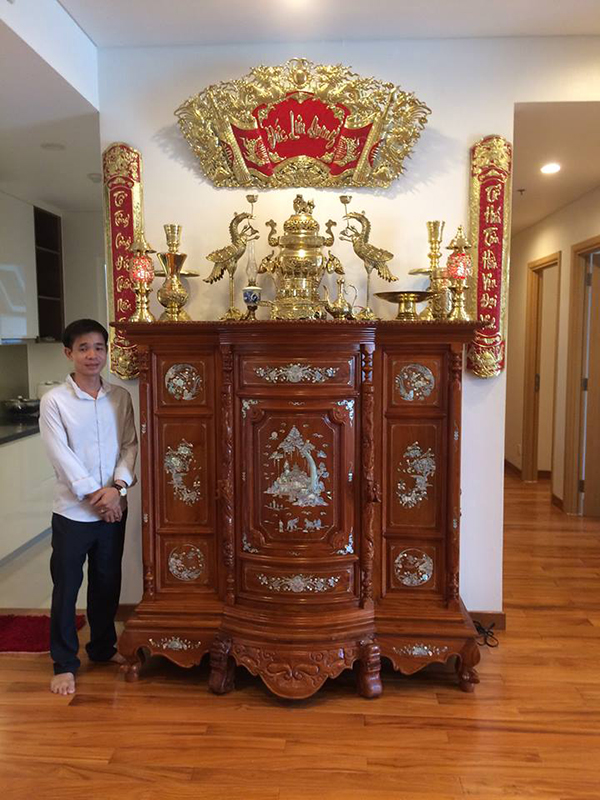 Mẫu tủ thờ bằng gỗ mít đẹp và sang trọng